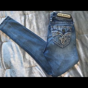 NWOT rock revival holographic skinny jeans